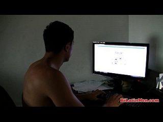 Latino Guy Jerking Off His Nice Uncut Dick