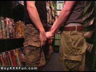Gay Twinks Blu And Tre Walk Into The Porn Section Of A Movie Store.
