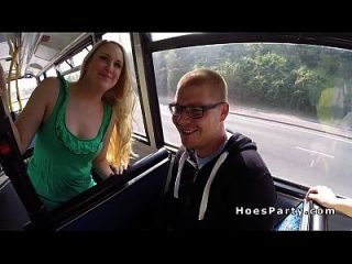 Two Sexy Amateur Partying In The Bus While Moving