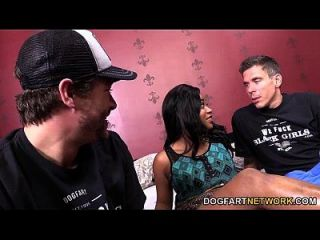Monique Symone Gets Picked Up And Fucked By White Guys