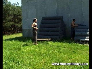 Tall Mature Lady Gets Banged By A Farm Boy