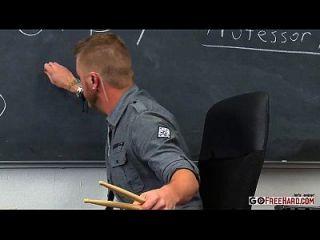 Brunette School Girl Fucks The Music Teacher