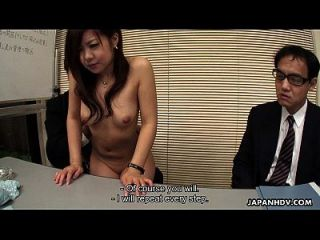 Asian Cute Babe Interviews For A Job Sucking Dicks