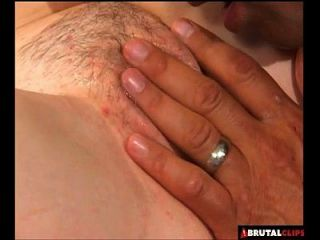 Brutalclips - Innocent Cutie Gets A Mouthful Of Jizz