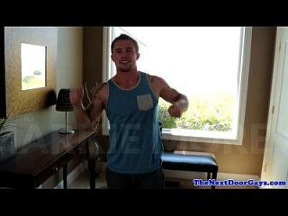 Huge Muscular Hunk Pounds Ripped Jock