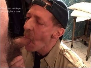 Hairy Uncut Cameraman Bear Gets Blown By 2 Horny Daddies