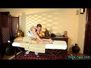 Massaged Teen With Tat