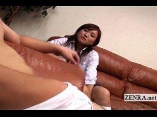 Subtitled Cfnm Tan Japanese Schoolgirl Senzuri Femdom