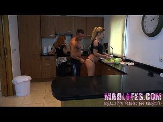 Madlifes.com - Reality Show Porno Español Orgia En La Cocina
