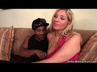 Blonde Milf Fucked By Thick Black Cock