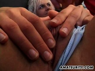 Skinny Blonde Amateur Girlfriend Sucks And Fucks