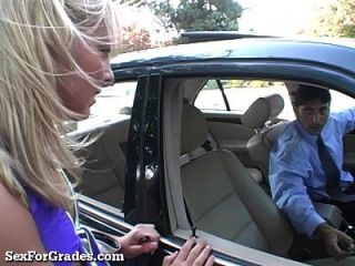 Cute Teen Rides Her Teacher