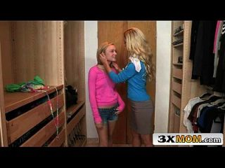 Blonde Milf And Her Stepdaughter Double Team A Guy - Cherie Deville, Dakota Skye