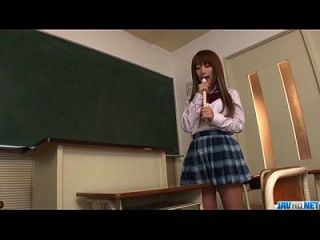 Sana Anzyu Plays With Her Hairy Pussy On The Teachers Desk