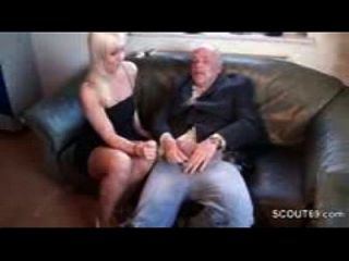 18 Years Old Teen Fucked By Grandpa Because Debts