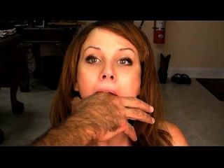 Fingers Down Her Throat Choking Gag Reflex
