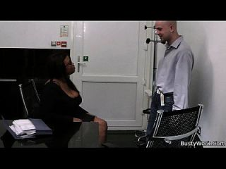 Ebony Fatty Spreads Her Legs For Job