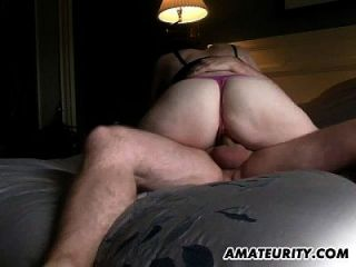 Amateur Girlfriend Sucks And Fucks With Creampie Cumshot