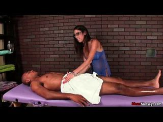 Mm-sexy Brunette Lady Dominant Cock Treatment
