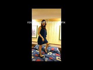 Rosy 25 De Mexico Df ... Sesion En Hotel Mojadita Parte 1