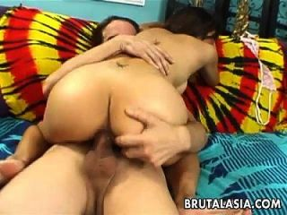 Hot Busty Asian Slut Getting Banged Up Real Rough