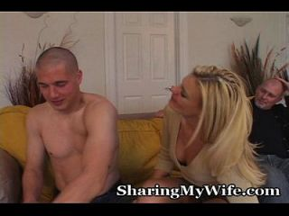 Wife Erecting Young Man