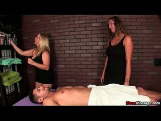 Two Bossy Ladies Tag-team A Poor Young Man