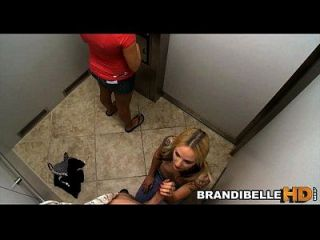 Brandi Belle Stuck In Elevator As Couples Fuck