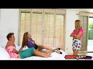 Julia Ann And Carter Cruise Threesome In The Bedroom