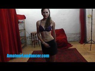 Shy Skinny Cutie Lapdances For Kinky Stranger