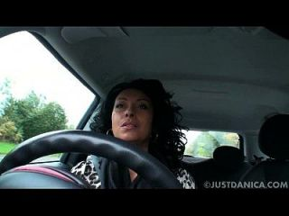 Danica Collins (donna Ambrose) Plays In Car
