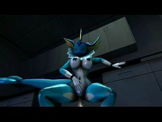 Vaporeon Takes Another Dildo In Her Pussy