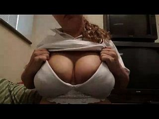 Curvy Blonde Milking Big Boobs