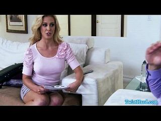 Cherie Deville Facialized After Riding Cock