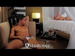Hd Manroyale - Sexy Guy Cums Hard When Fucked