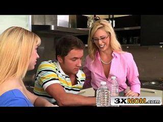 Blonde Big Tit Milf & Her Stepdaughter Ffm 3some - Lucy Tyler, Cherie Deville
