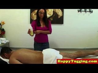 Massage Asian Tugging Client