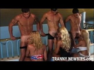 My First Tranny Gangbang Was So Much Fun