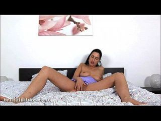 Carmen Fills Her Pussy With A Massive Brutal Dildo