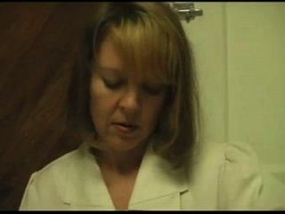 Naughty Nurse Gives Patient A Handjob