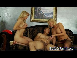 Bigass Stepmom Closeup In Threeway With Teens