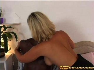 Hot Blonde Fucked By A Big Black Dick For Interracial Fun