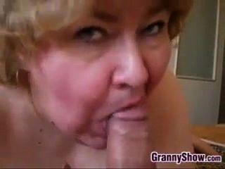Amateur Granny Gives A Great Blowjob