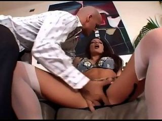 Vanessa Fucked In Panties And Thigh High Nylon