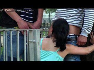 Public - Public Sex Teen Pretty Girl Gangbang