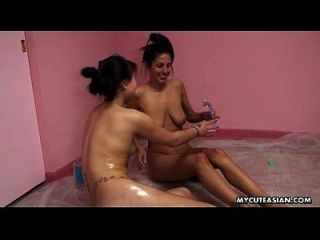 Lesbo Oil Massage With Two Frisky Nations Getting Together