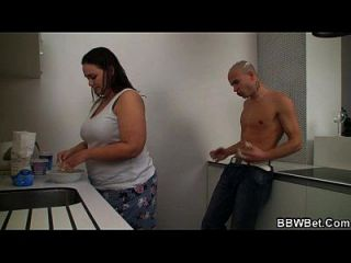 Fat Chick And Her Dude Play With Ice-cream And Fuck