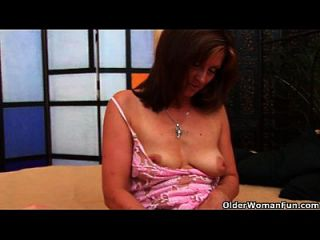 Horny Milf Dorothy Gets A Facial From The Guy Next Door