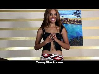 Teenyblack - Petite Ebony Is Horny For Some White Dick