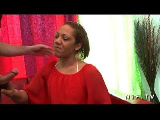 Anal Casting Couch Of A French Black Milf In Stockings